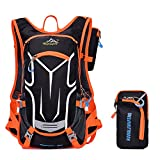 Cheap ONEPACK Cycling Backpack,18L Water-resistant Breathable Cycling Bicycle Bike Shoulder Backpack Ultralight Outdoor Sports Riding Travel Mountaineering Hydration Water Bag with Rain Cover(Orange)