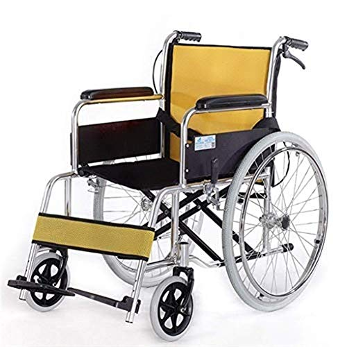 - TPKNG Transport Wheelchair, Aluminum Steel Frame, Folding Chair, Portable Manual Wheelchair, Suitable for The Elderly, Disabled