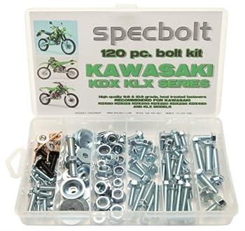 120pc Specbolt Kawasaki KDX two stroke Bolt Kit for Maintenance & Restoration of Dirtbike OEM Spec Fastener KDX80 KDX125 KDX175 KDX200 KDX220 KDX250 & KDX450