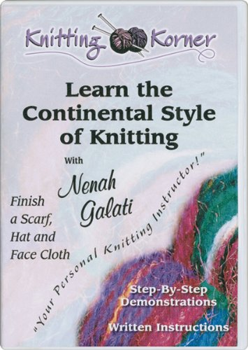 American Crafts Knitting Korner Learn The Continental Style of Knitting DVD
