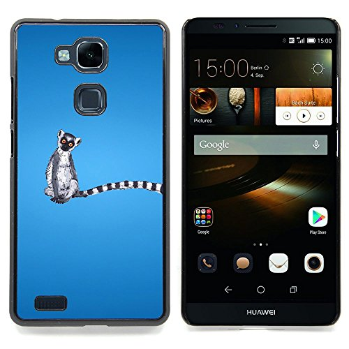 – Long Tail Grey White Animal Ring Tailed Lemur Rainforest – Slim Guard Armor Phone Case- For HUAWEI Ascend Mate 7 Devil Case