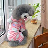 Adorable Pet Clothing Cute Puppy Fashion Pink & Peach Heart Sweatshirt for Animals-Size L