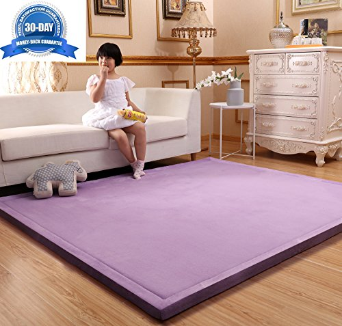 MAXYOYO Baby Play Mat Floor Mat, Large Rug for Living Room, Memory Foam Rug Soft Rug Kids Rug Yoga Mat Non-Slip Thicken Carpet, Thickness:3cm, 51 by 75 Inch