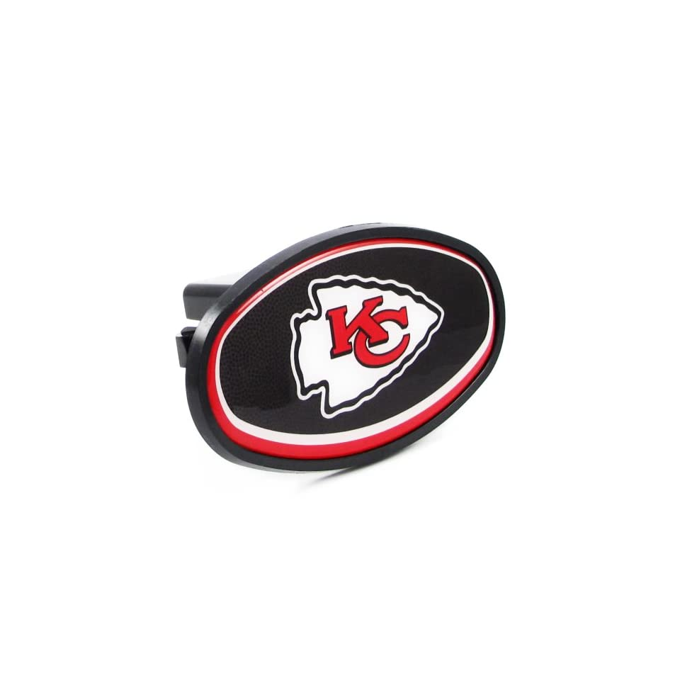 Kansas City Chiefs   NFL Plastic Hitch Cover With Team Logo