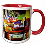 Picasso Guitar N wine 1909 painting mug is available in both 11 oz and 15 oz. Why drink out of an ordinary mug when a custom printed mug is so much Cooler? this ceramic mug is lead free, microwave safe and FDA approved. Image is printed on both sides...