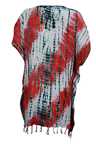 Rot Weiß Kleid Kimono Interior Mogul Damen qx6wIXFO