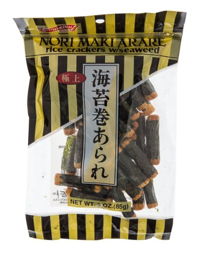 (Shirakiku Rice Cracker Norimaki Arare, 3-Ounce Units (Pack of 36))