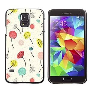 Cubierta protectora del caso de Shell Plástico || Samsung Galaxy S5 SM-G900 || Spring Summer Floral Flowers @XPTECH