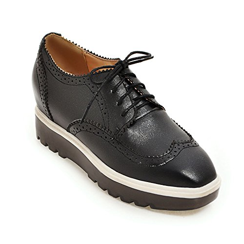 Zapatos casuales suela gruesa moda señora head/aumentó cuñas zapatos de Inglaterra A