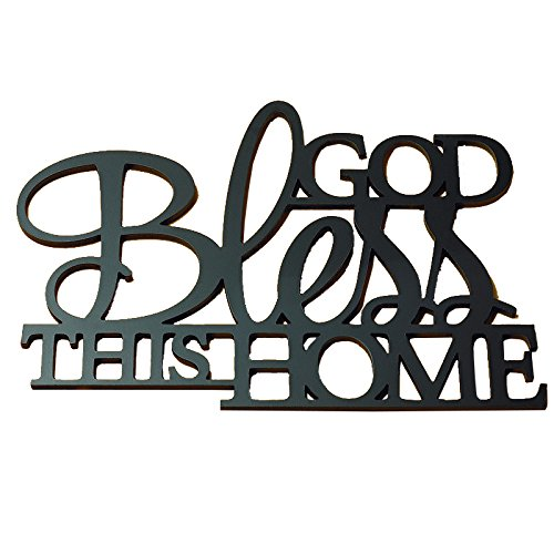 Abbey Gift God Bless This Home Wall Word