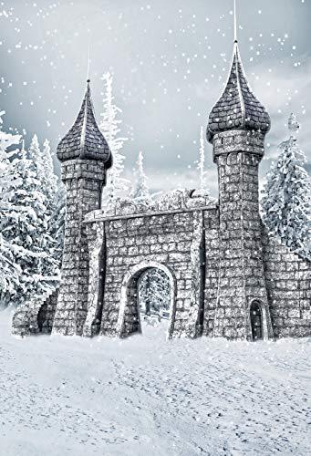 Baocicco 5x7ft Winter Castle Backdrop Fairy Tale