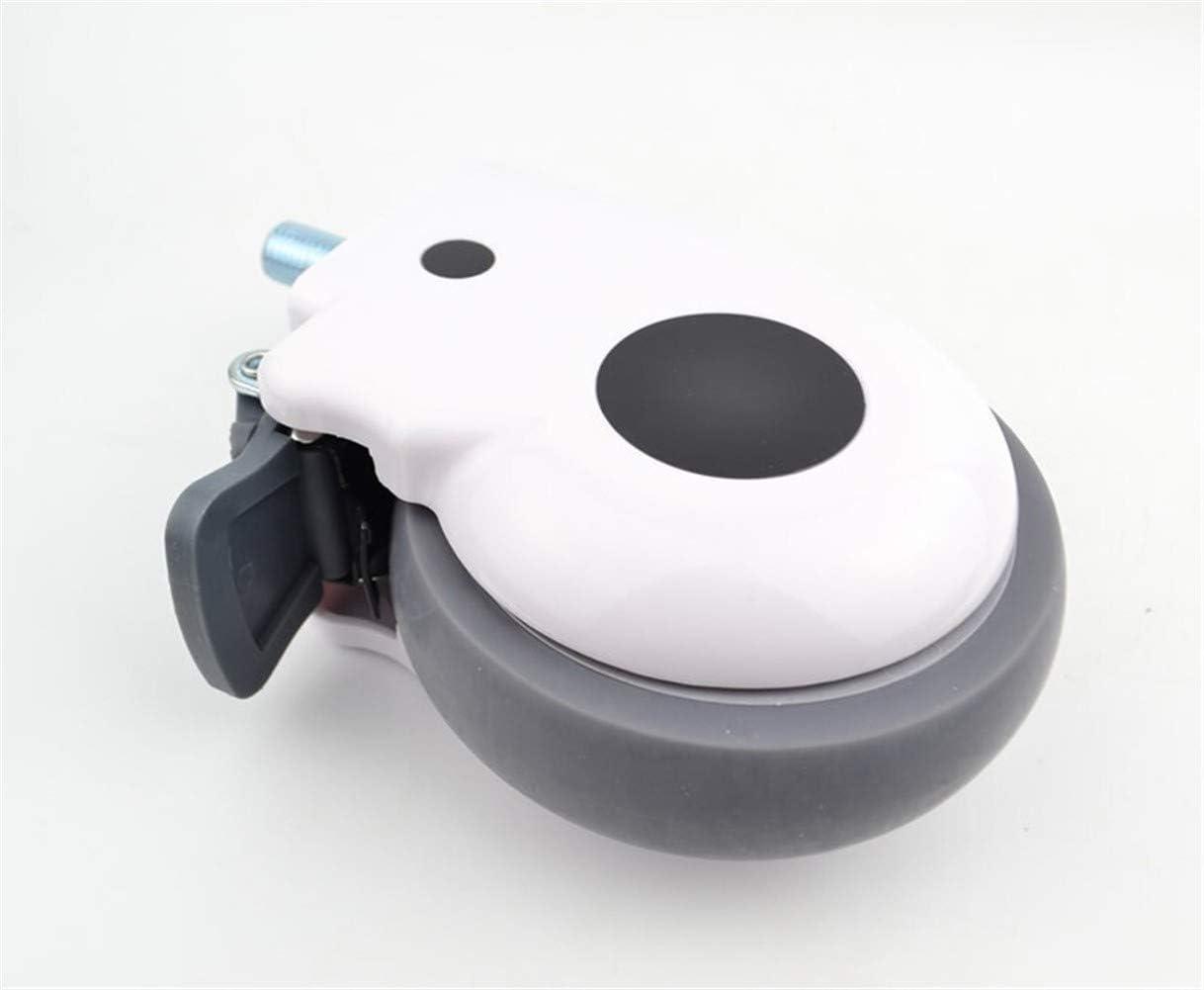 Rueda universal 5 pulgadas de lujo cubierta protectora con el equipo médico de enfermería ruedas for tornillos Camas M16X30mm Silencio material de carga de 110 kg (Color : No brake)