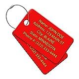 Multi Pack Customized Tavel ID Tag - Luggage Tag - Golf Bag ID - Personalized ID Travel Tag - Imprinted Luggage Tag - Luggage, Bikes, Sport Equipment (8)