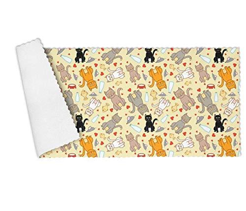 DGNMAOQ Cartoon Cat and Mice Yellow Background Premium Multi-Functional Towel Set for Kitchen,Restaurant,Hotel,Dishwashing Super Absorbent ()