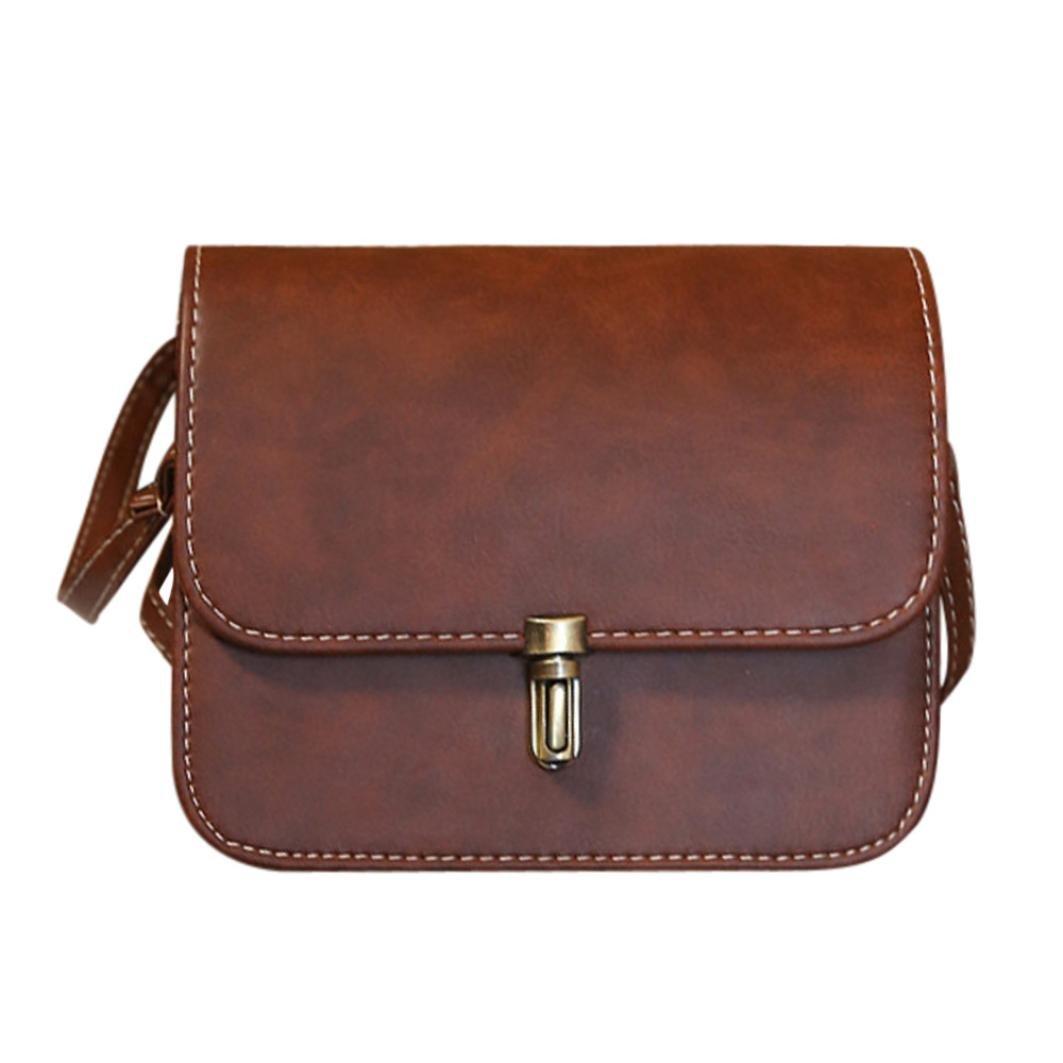 zarupeng Bolso cruzado del mensajero del hombro del bolso de la taleguilla del bolso de la señora de cuero de señora