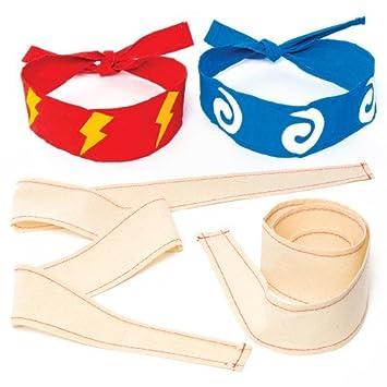 """Ninja"""" Stoff-Kopfbänder für Kinder Zum Gestalten und Tragen Beim ..."""