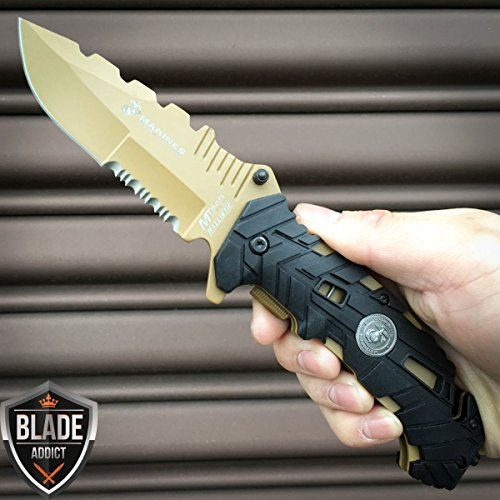 Mtech USMC Spring Assisted Open Marines Survival Tactical Folding Pocket Knife by USMC Marines Mtech