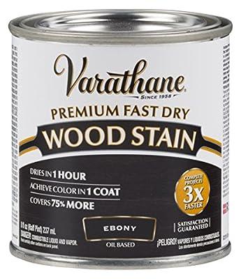 Rust-Oleum 269400 1/2 Pint Varathane Fast Dry Wood Stain, Ebony