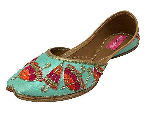 Step n Style - Sandalias de vestir para mujer verde Sea Green