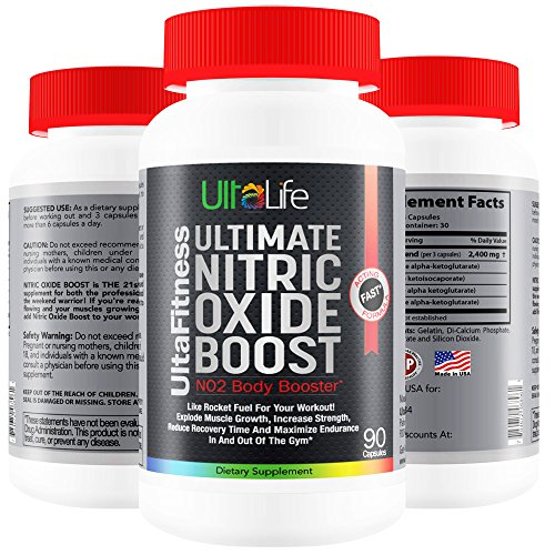 #1 Nitric Oxide Booster -- Ultimate Nitric Oxide Supplements + L Arginine Are The Best Pre Workout Pills To Build Muscle Fast, Increase Strength, Reduce Recovery Time and Maximize Endurance In And Out Of The Gym! Experience