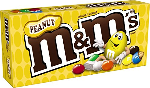 - M&M'S Peanut Chocolate Candy Movie Theater Box 3.1-Ounce Box (Pack of 12)