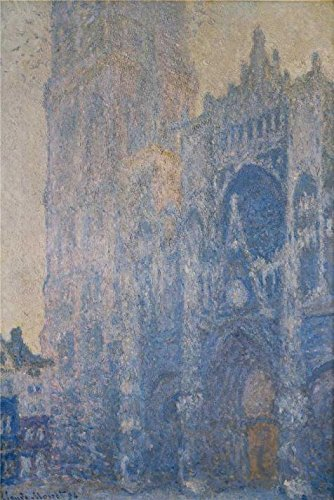 (Oil Painting 'Rouen Cathedral, Morning Effect, 1893-1894 By Claude Monet' 24 x 36 inch / 61 x 91 cm , on High Definition HD canvas prints is for Gifts And Dining Room, Home Office And Study Ro decor)