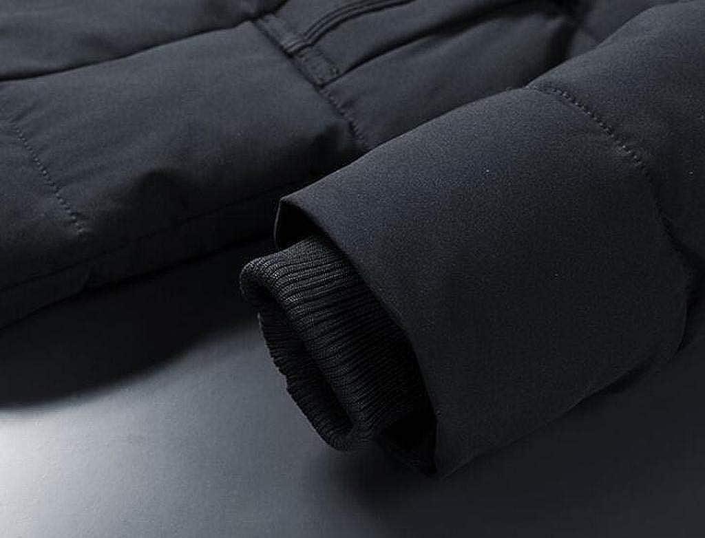 pipigo Mens Winter Thicker Zip Up Loose Hoodie Down Quilted Coat Jacket Overcoat