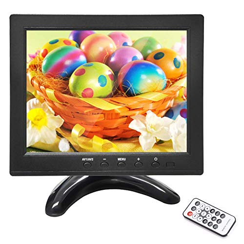 Eyoyo 8 inch Small CCTV HDMI Monitor Portable 1024x768 Color LCD Display Screen Video with Remote Control Support HDMI VGA AV BNC USB Input for PC Security Camera (8 Inch)