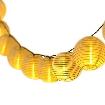 Qomolo Guirnaldas de Luces, Iluminación De Exterior Decoración Farolillos, 30 LED Guirnalda Luminosa De