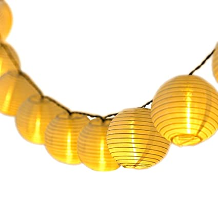 Lampion Lichterkette Außen Qomolo Wasserdicht Lichterkette 30er LED Lampions Laterne Aussen Dekoration für Garten Balkon