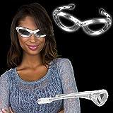 Windy City Novelties Flashing White LED Sunglasses