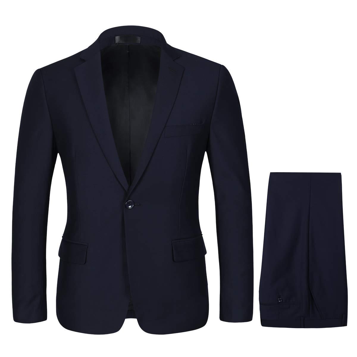 YOUTHUP Costumes Hommes 2 Pi/èces Slim Fit Costume Mariage Mode Veste + Pantalon
