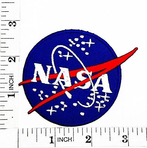 Azul programa espacial de la NASA Vector parche para planchar y ...