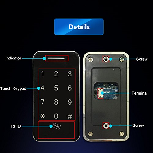 Touch Keypad Electronic Cabinet Lock with RFID Keys & 5V DC Power Port Backup by BestgoBest (Image #2)