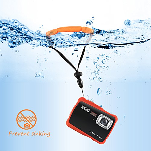 Underwater Camera for Kids, CrazyFire 12MP HD Waterproof Digital Camera Children Birthday Gift, 2.0 Inch LCD Display, 8X Digital Zoom with 8G SD Card and Floating Wrist Strap
