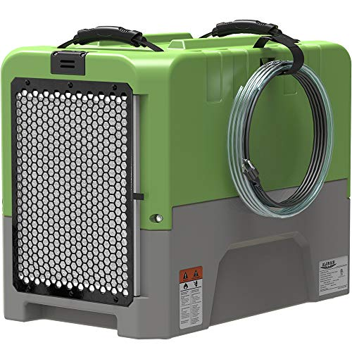 AlorAir LGR Dehumidifier with Built-in Pump, for Water Damage Restoration, 5 Years Warranty, cETL Listed, Up to 190 PPD (Saturation), 85ppd at AHAM, Flood Repair