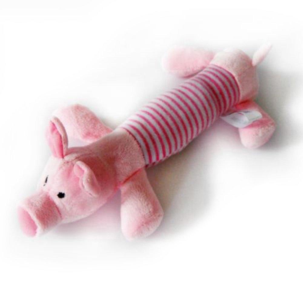 Newin étoile Chien pour animal domestique Chiot en peluche Jouets Bruitages pour chien chat animaux Sound Toys (Pig) Newin Star