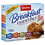 Carnation Instant Breakfast No Sugar Added - Chocolate, 8 Count (Pack of 8)