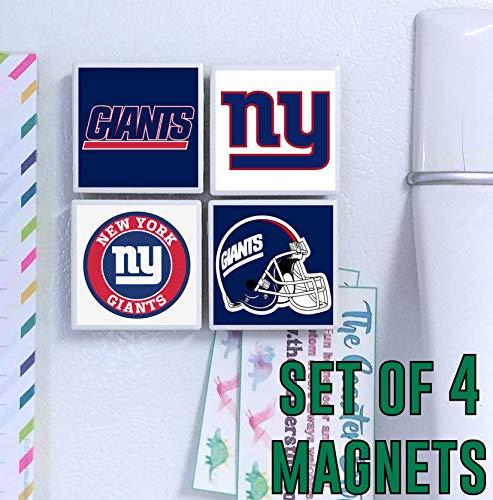 New York Giants Magnets - set of 4 tile magnets - 2