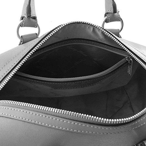 Tuscany Leather - TL Keyluck - Sac Bauletto en cuir Saffiano - Marron foncé
