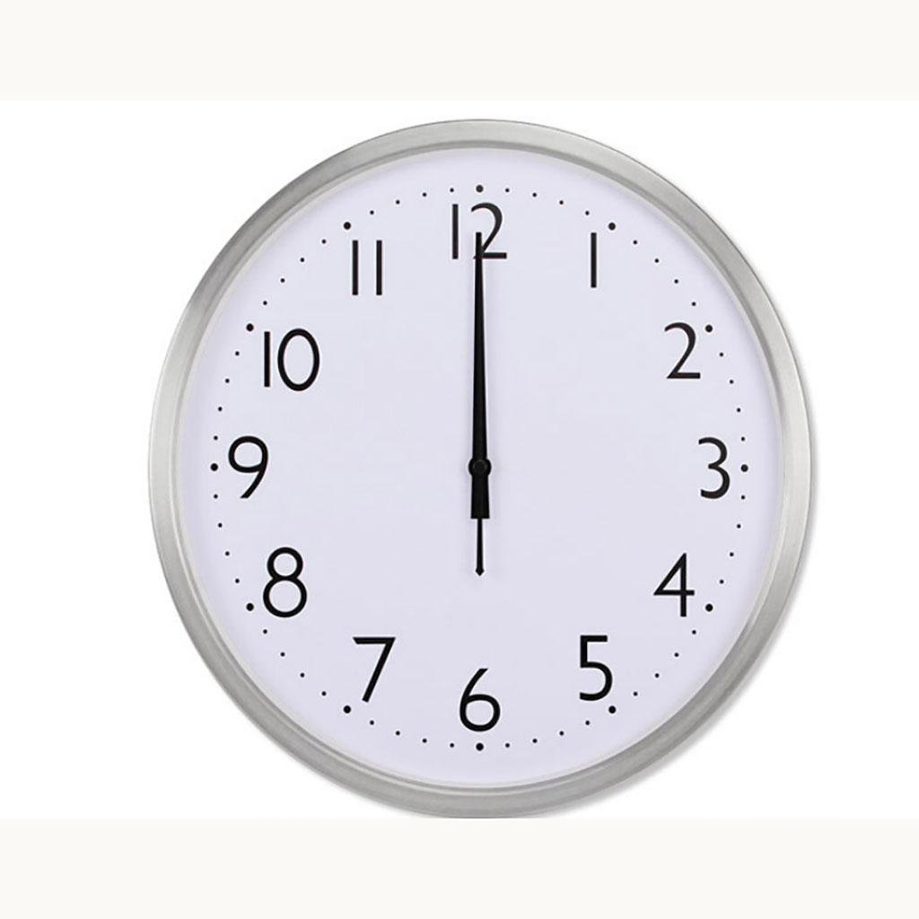 L&M metal automatic School time Hotel Radio clock Home Mute Quartz clock , silver