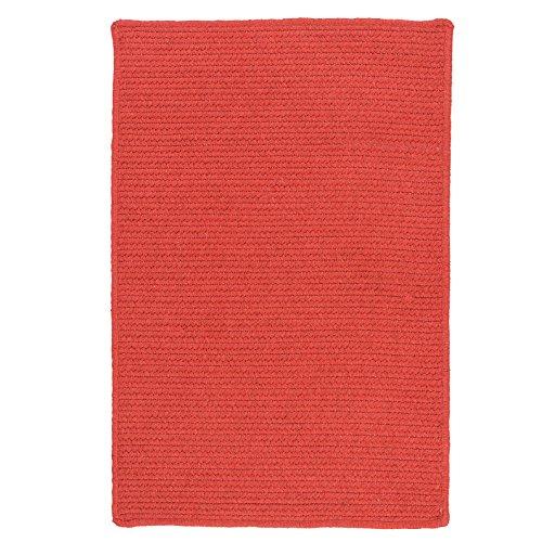 Garnet Braided Rug - Colonial Mills Sunbrella Solid Braided Area Rug (9' x 12') Garnet
