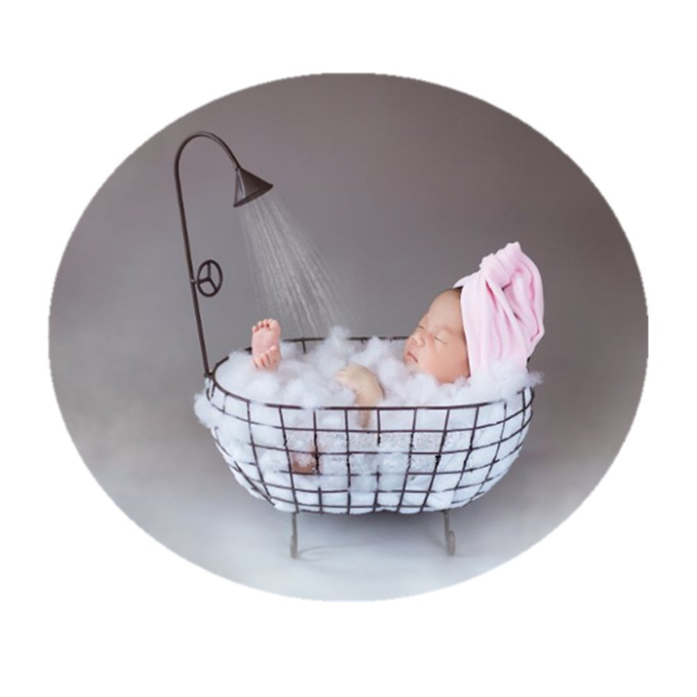 Newborn Baby Photo Props Posing Professional for Posing Baby Contoured Posing Positioner Small Bathtub Props Set Black
