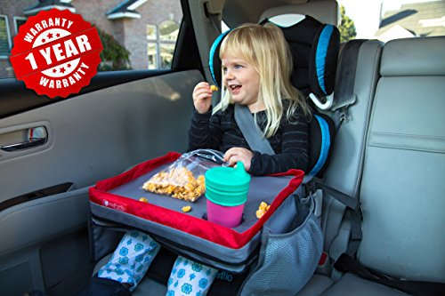 Kids E-Z Travel Lap Desk Tray - Universal Fit for Car Seat, Stroller & Airplane - Organized Access to Drawing,...