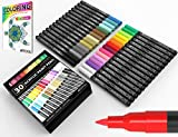 Acrylic Paint Pens 30 Assorted Markers Set 0.7mm Extra Fine Tip for Rock, Glass, Mugs, Porcelain, Wood, Metal,...