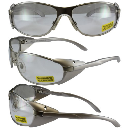2x-clear-lens-high-performance-lightweight-protective-safety-glasses-silver-frame-ansi-z871-rubber-n