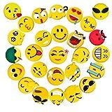 Fridge Magnets 27 Pack, Pococina 3D Emoji Carton Refrigerator Magnets Sticker for Home