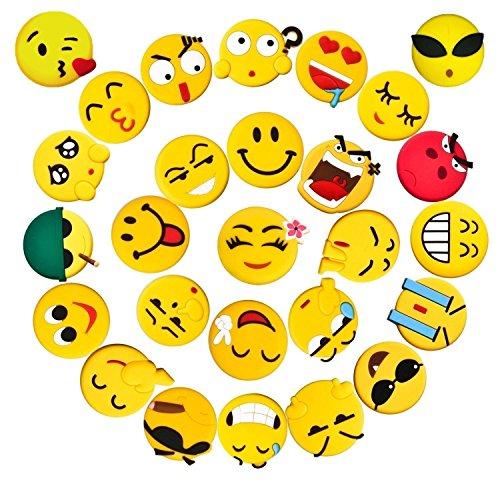 3D Emoji Magnets, Pococina 26 Pack Emoji Refrigerator Magnets Set, Ø 1.7″ Funny Fridge Magnet Set for Kids Kitchen Home Decor Classroom Office Hospital