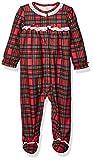 Little Me Baby Girl's Xmas Plaid Pajamas Sleepwear, Plaid, 3 Months