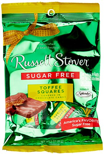 Russell Stover Sugar Free Toffee Squares, 3 oz